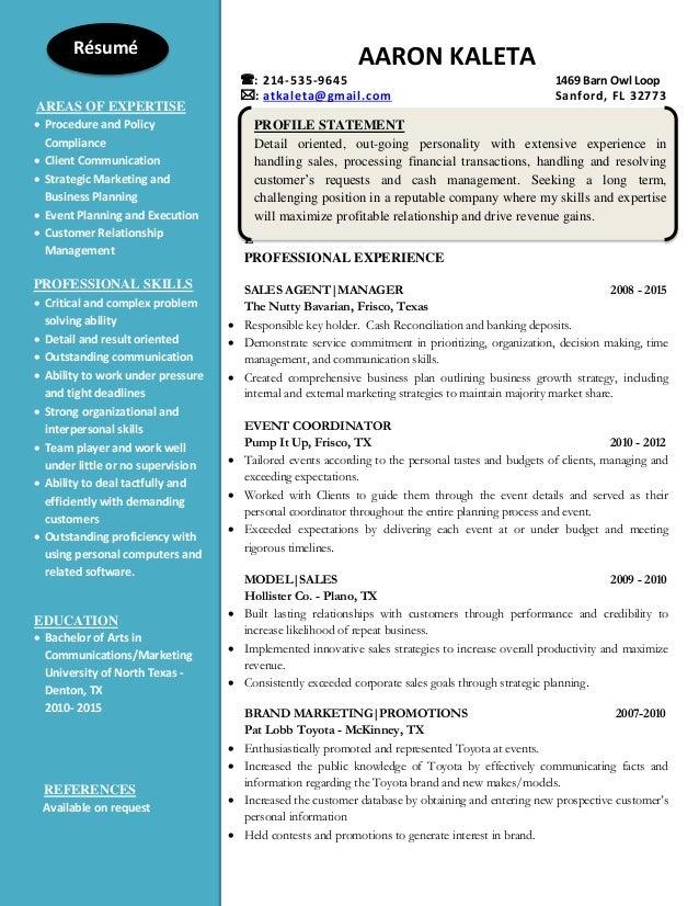 Aaron Kaleta Graduate Resume
