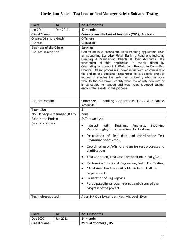 Banking Domain Testing Resume - Resume Examples | Resume