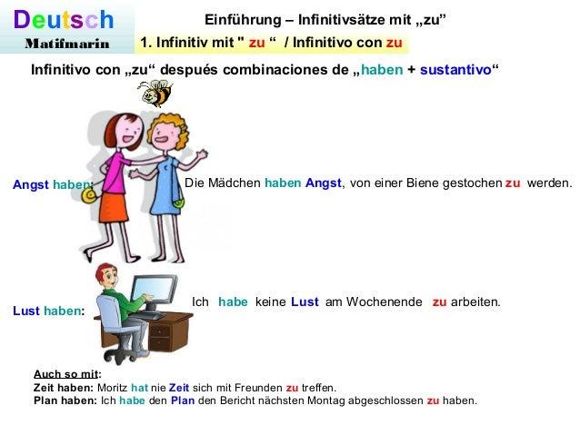 6 deutsch matifmarin einfhrung infinitivstze - Infinitivsatze Beispiele