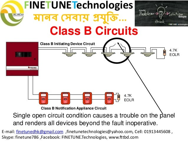 Class b fire alarm circuit wiring source fire detection system rh slideshare net class b fire alarm wiring diagram class b fire alarm asfbconference2016 Image collections