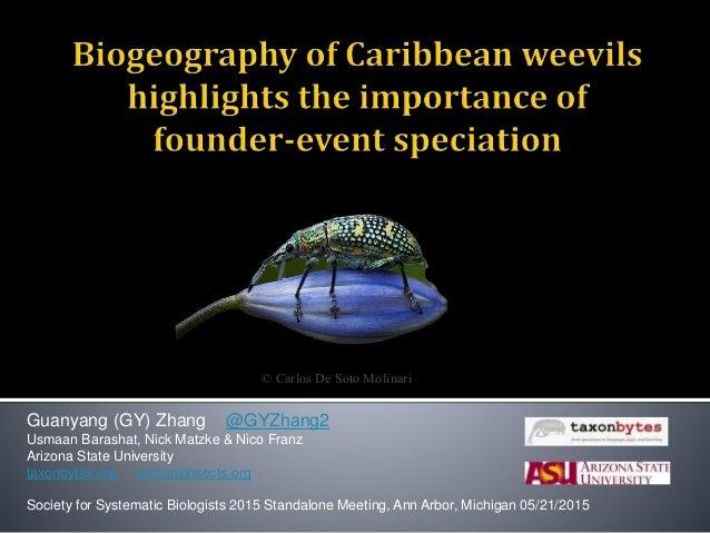 Guanyang (GY) Zhang @GYZhang2 Usmaan Barashat, Nick Matzke & Nico Franz Arizona State University taxonbytes.org somanyinse...