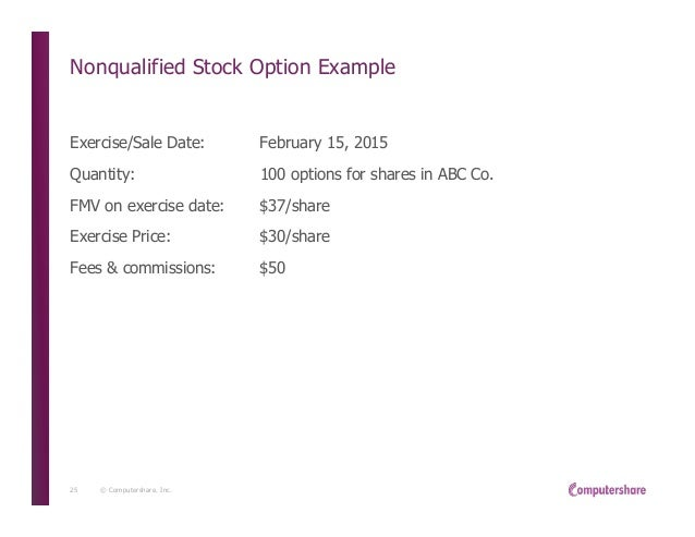 Compensation from the exercise of nonstatutory stock options reported on form w-2