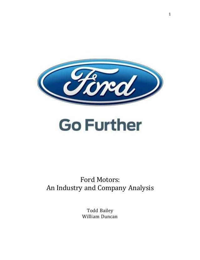 Ford Motors: A Case Analysis Essay