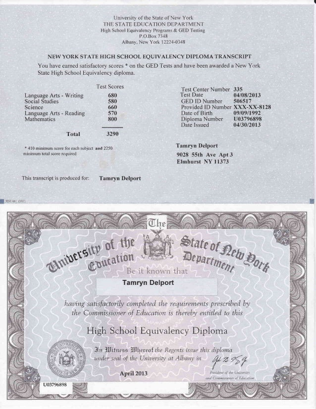 Tamryn Delport Education And Qualifications Ged Diploma