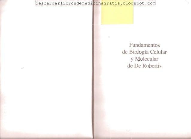 Biologia celular y molecular de robertis 15 edicion