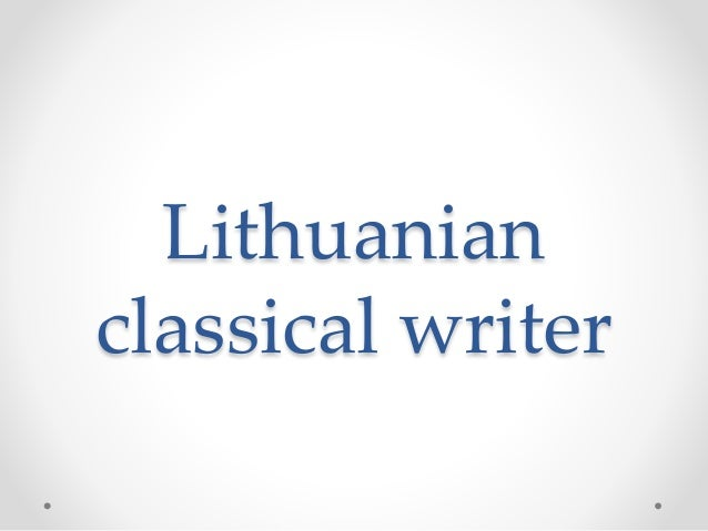 Lithuanian classical writer