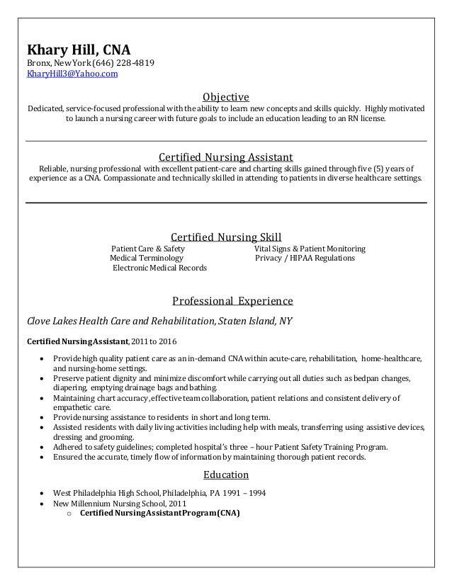 Free Resume Format Cna Certification Ny Resume Format