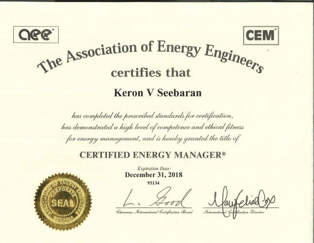 cem certification slideshare keron upcoming