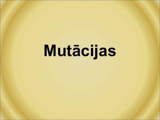 Mutācijas