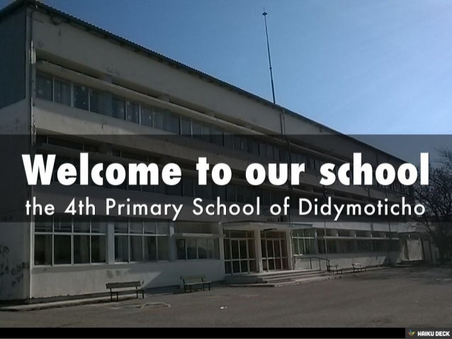 Our school was built in 1980. It is a two-storey building with 12 classrooms, a staff room, a gym, a small canteen and an ...