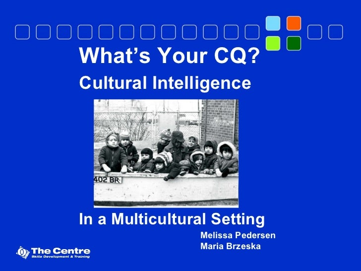 What's Your CQ? Cultural Intelligence In a Multicultural Setting Melissa Pedersen Maria Brzeska