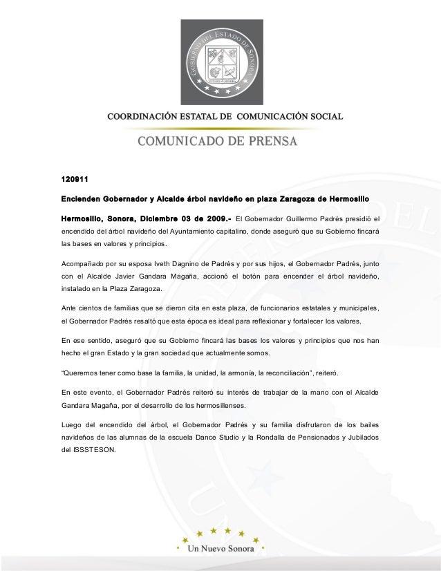 120911  Encienden Gobernador y Alcalde árbol navideño en plaza Zaragoza de Hermosillo  Hermosillo, Sonora, Diciembre 03 de...