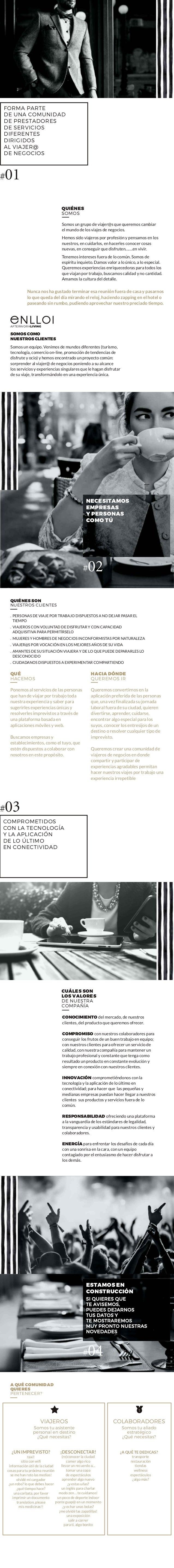 FORMA PARTE DE UNA COMUNIDAD DE PRESTADORES DE SERVICIOS DIFERENTES DIRIGIDOS AL VIAJER@ DE NEGOCIOS #01 Somos un grupo de...