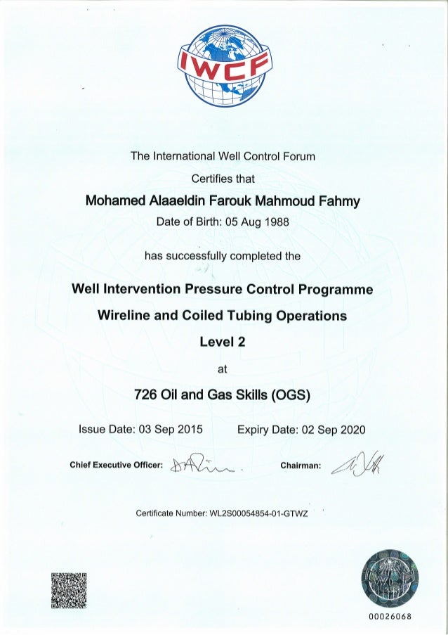 Well Intervention Pressure Control Programme