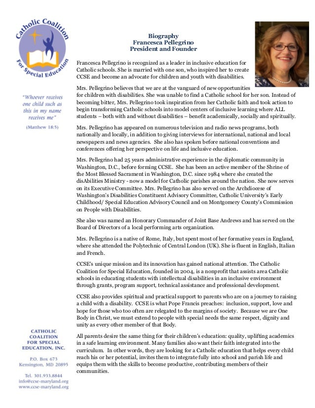 Francesca biography on letterhead template letterhead template biography francesca pellegrino president and founder francesca pellegrino is recognized as a leader in inclusive education spiritdancerdesigns Gallery