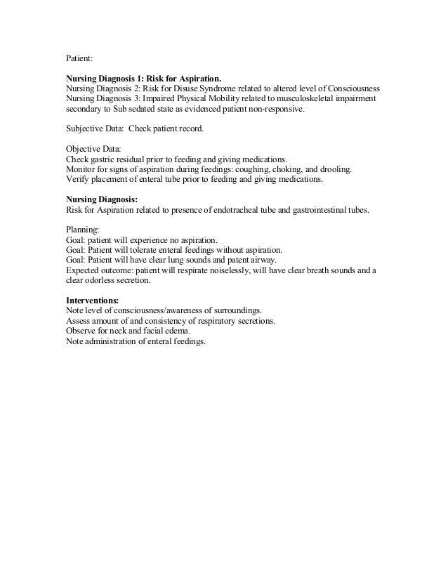 nursing diagnosis for choking