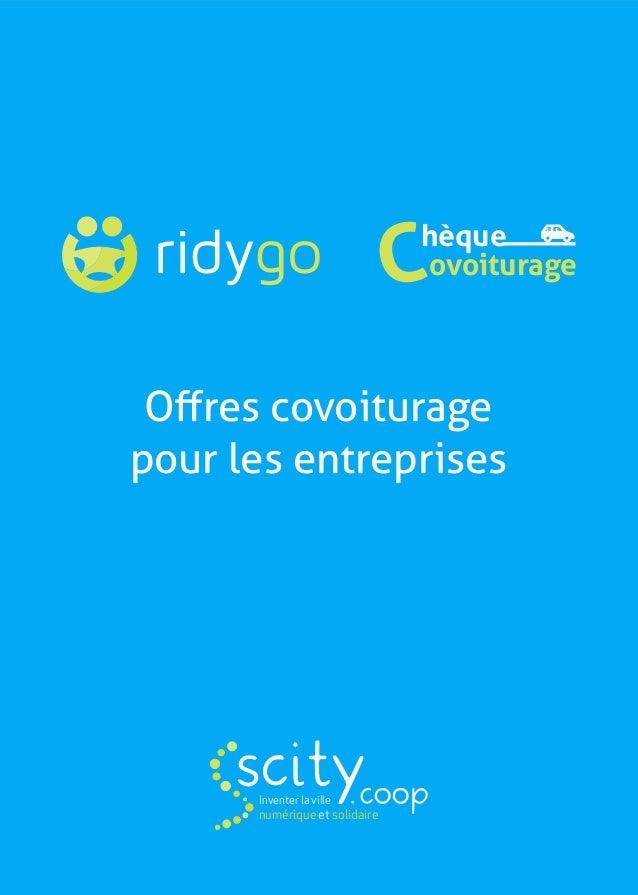 hèque ovoiturageC Offres covoiturage pour les entreprises scityInventer la ville numérique et solidaire .coop