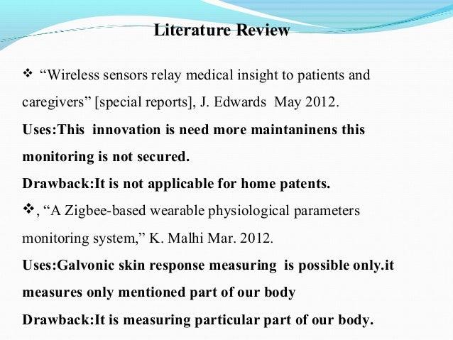 Literature review zigbee