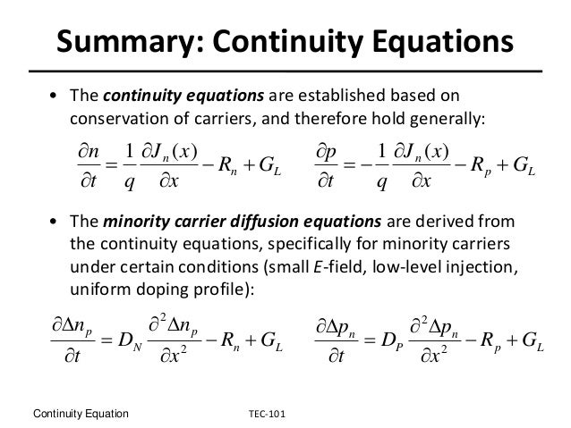 Continiuty Equation