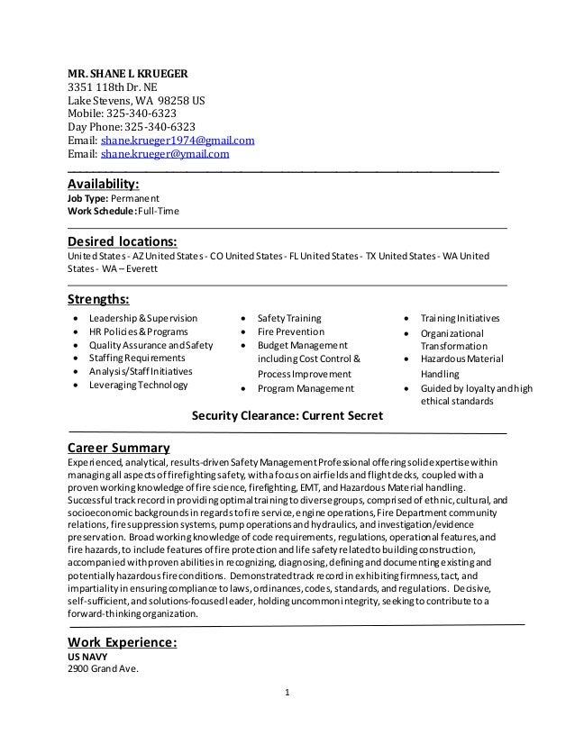 1 MR. SHANE L KRUEGER 3351 118th Dr. NE Lake Stevens, WA 98258 US Mobile: 325-340-6323 Day Phone: 325-340-6323 Email: shan...