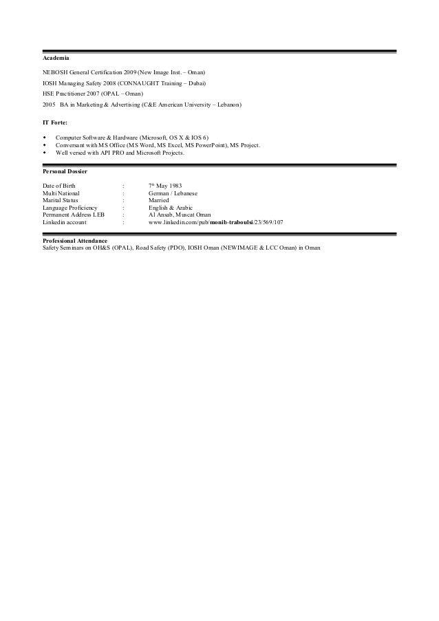 5 Academia NEBOSH General Certification