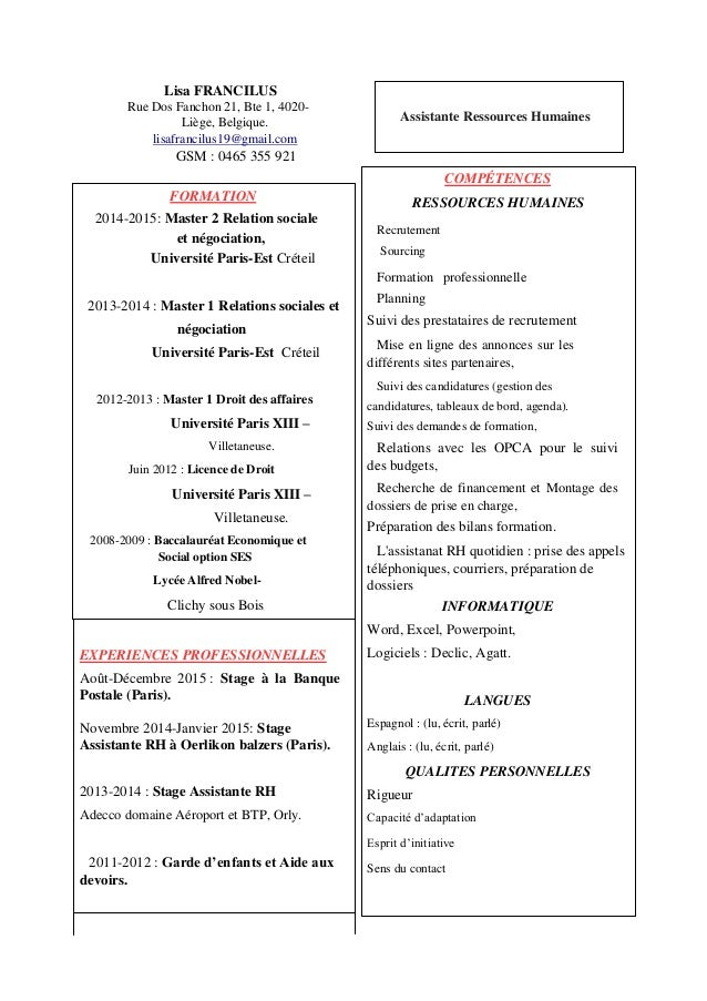 cv lisa francilus pdf