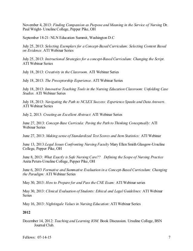 Fellows CV 2014 2015