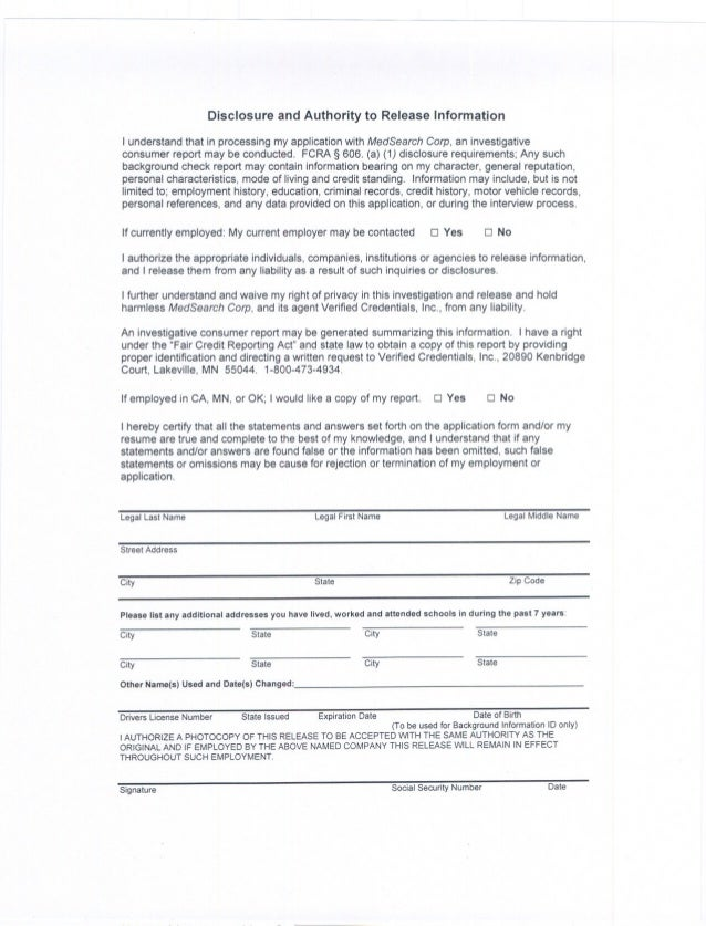 Candidate application and background check sheet for General motors criminal background check