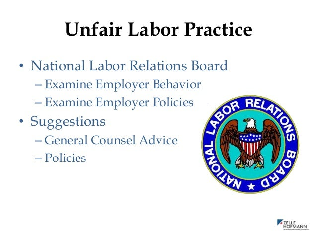 unfair labor practice and apparel companies Companies must weigh multiple factors before american apparel is also the subject of an inquiry from the tagged section 7 rights, unfair labor practice.