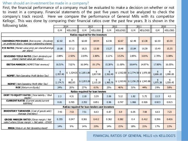 general mills financial analysis