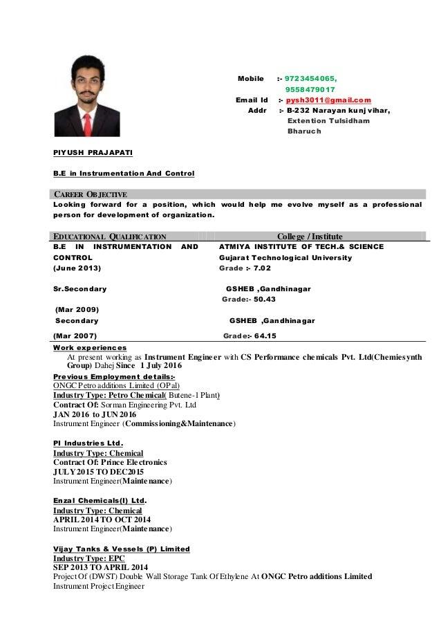Instrument engineer resume 2year (1)