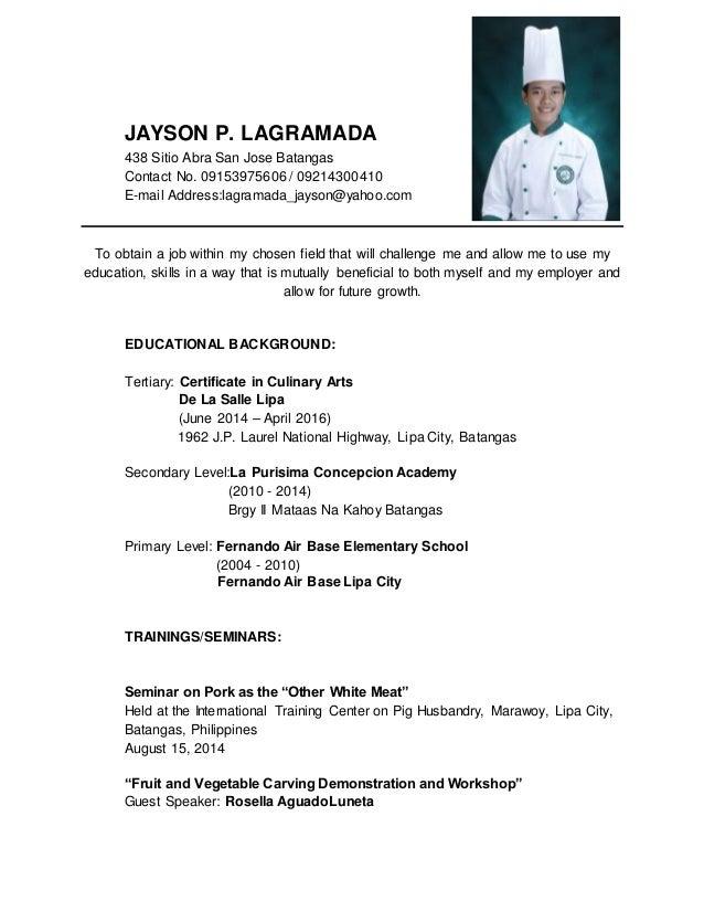 Jayson P Lagramada Resume