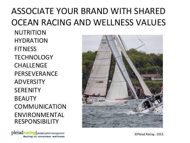 ASSOCIATE  YOUR  BRAND  WITH  SHARED   OCEAN  RACING  AND  WELLNESS  VALUES   NUTRITION   HYDRATION...