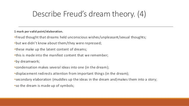 freud sleep and dreams Discuss developments in neuroscience as they relate to dreams and sleep i  discuss differences between approaches between sigmund freud and gustav  jung.