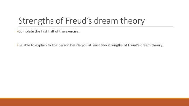dream theory The science of dreaming has still not been fully explained there are however a  number of theories into why we drift off into a dream world.