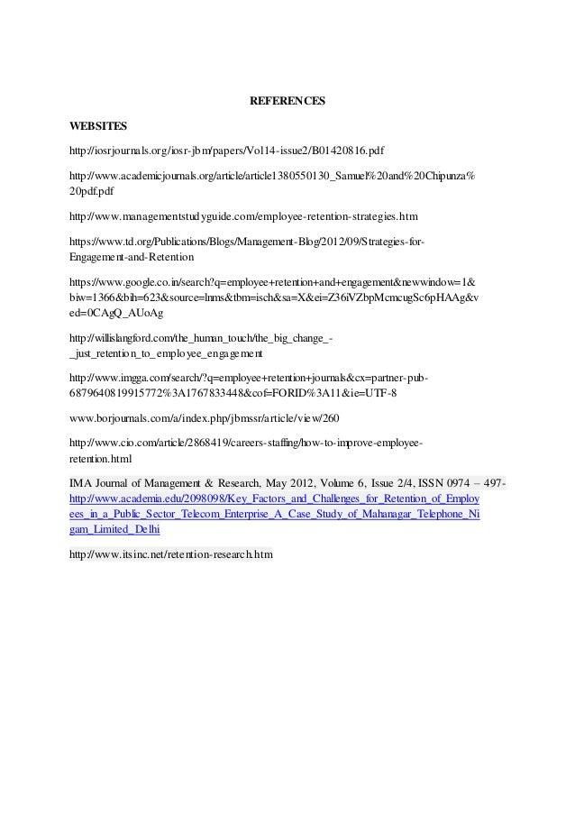 employee retention journal pdf