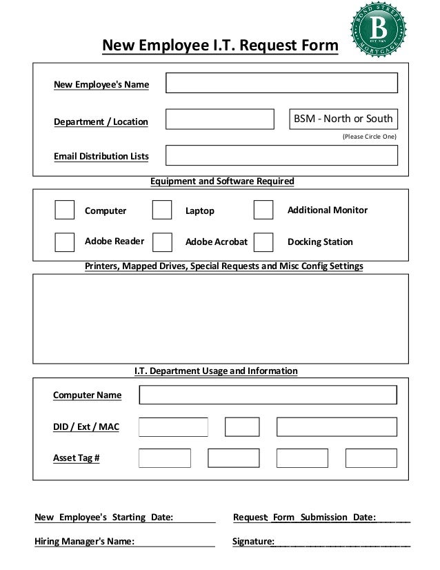 Request Form. General Print Request Form Print Request Forms
