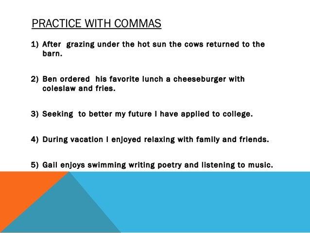 Summary of Commas