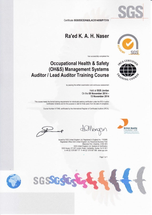 Irca 1000 auditor certification requirements | audit | iso 9000.