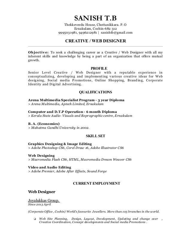 web designer resume download