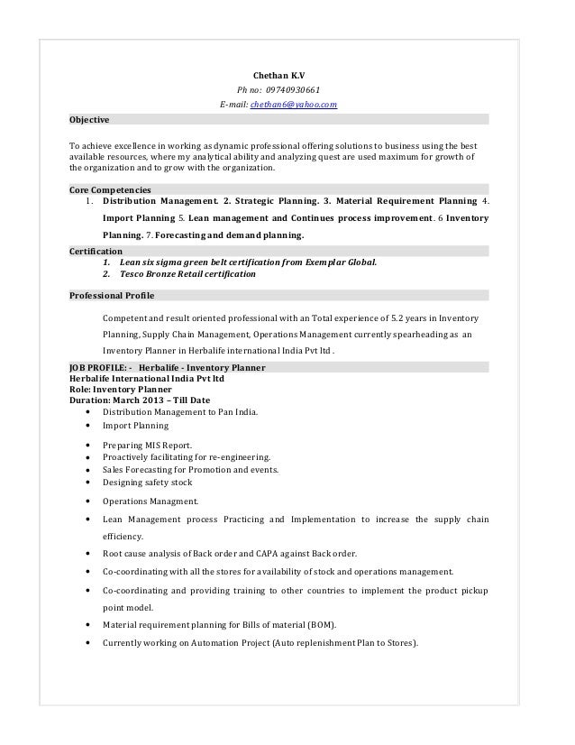 chethan inventory planner resume 33