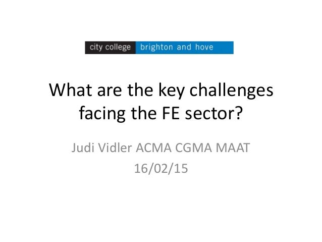 What are the key challenges facing the FE