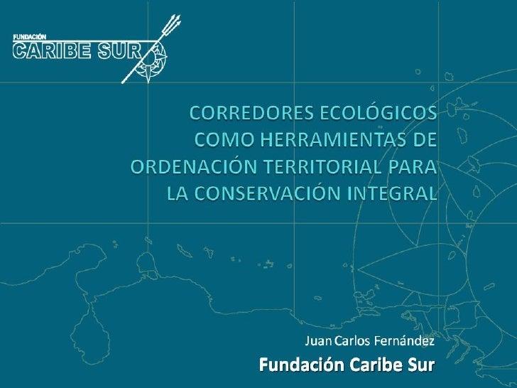 Fundación Caribe Sur: Corredores ecológicos como herramientas de ordenación territorial para la conservación integral