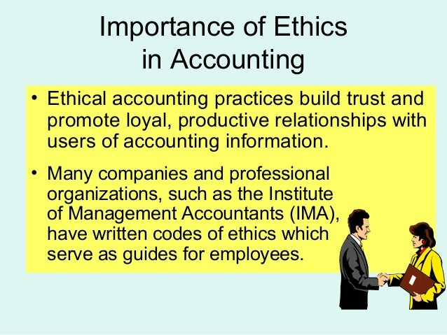 ethic accounting Business and accounting ethics dr katherine t smith, business author dr l murphy smith, cpa, professor of accounting, texas a&m university.