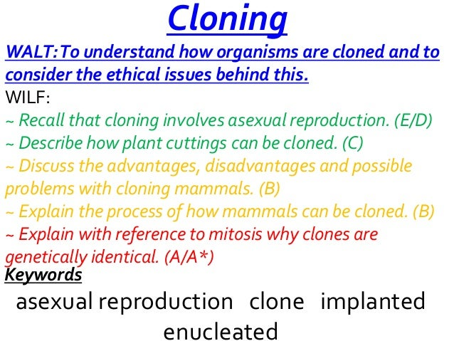 Asexual reproduction plants disadvantages of cloning