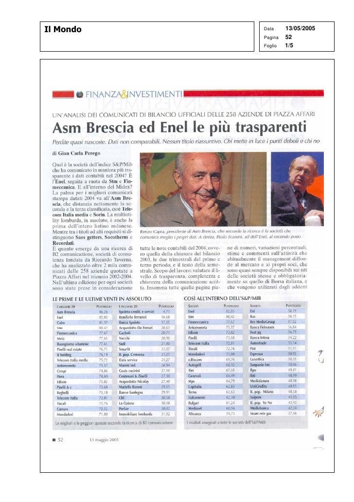 Il Mondo   Data     13/05/2005            Pagina   52            Foglio   1/5