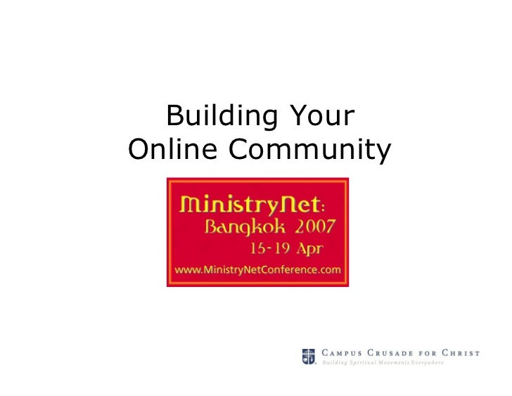Building YourOnline Community