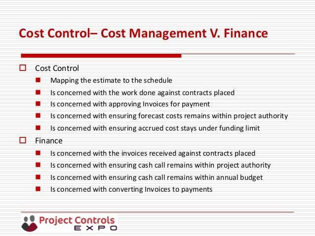Session B2 - Project Cost Control