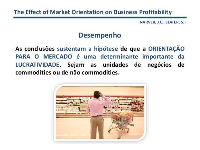 the impact of market orientation on Yasaman darabi division of industrial marketing and e-commerce, tarbiat modares university, tehran, iran abstract studying the impact of market orientation on business performance has.
