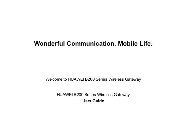 Huawei B200 Series User Manual